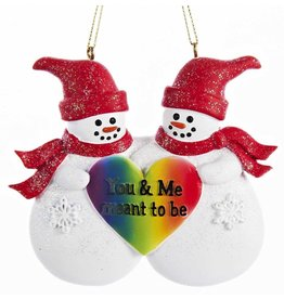 Kurt Adler Gay Pride Ornament Snow Couple You And Me Meant To Be