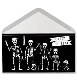 PAPYRUS® Halloween Cards Skeleton Family Creep It Real