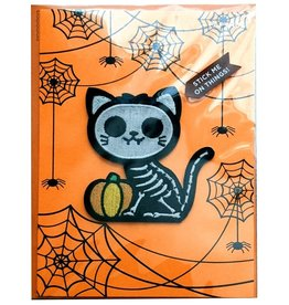 PAPYRUS® Halloween Cards Cat Skeleton Patch