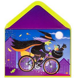 PAPYRUS® Halloween Cards Spooky Witch On Bike