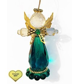 Kurt Adler Birthstone Angel Ornaments 3.25 Inch MAY Emerald