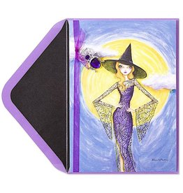 PAPYRUS® Halloween Cards Bella Pilar Fashion Witch W Spider Pendant