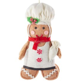Kurt Adler Gingerbread Boy Cookie 7.5 Inch Doll Christmas Ornament