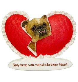 Zelda Wisdom Zelda Bulldog Magnet Broken Heart Magnet