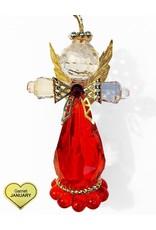 Kurt Adler Birthstone Angel Ornaments 3.25 Inch JANUARY Garnet