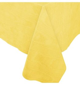 Caspari Moire Printed Paper Linen Table Covers In Yellow