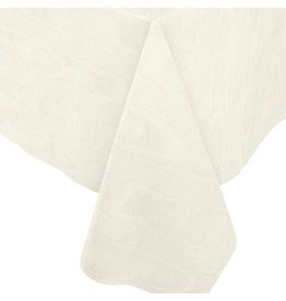 Caspari Moire Printed Paper Linen Table Covers In Ivory