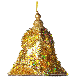 Katherine's Collection Gold Encrusted Bell Christmas Ornaments SM 5x3.75 Inch