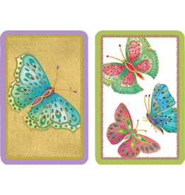 Caspari Playing Cards Bridge Cards 2 Decks Jumbo Text Butterflies