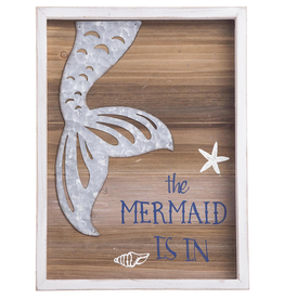 Darice The Mermaid Is In Wood And Metal Wall Plaque 15x12 Inch