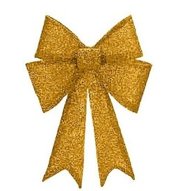 Mark Roberts Christmas Decorations Shimmering Gold Glitter Fabric Mesh Bow XLG 23.5in