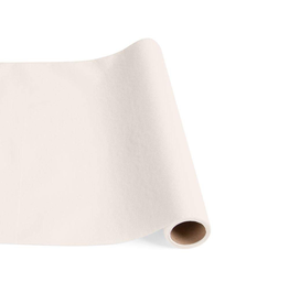 Caspari Paper Linen Solid Table Runner In Ivory