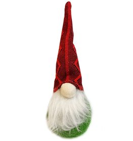 Darice Christmas Gnomes Ornament 7.87H Red Hat On Green Body