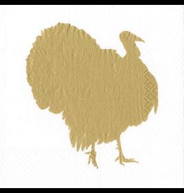 Caspari Thanksgiving Paper Cocktail Napkins 20pk Turkey Fan