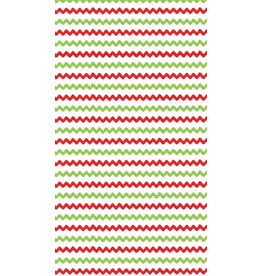 Caspari Christmas Paper Guest Towel Napkins 15pk Rickrack Red Green