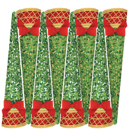 Caspari Celebration Christmas Crackers Cone Shaped 8pk Boxwood Topiary