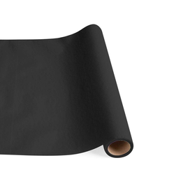 Caspari Paper Linen Solid Table Runner In Black