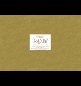 Caspari Square Table Covers Gold 72x72 inch