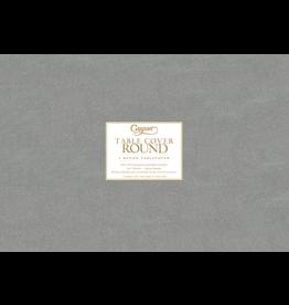 Caspari Round Tablecover In Silver 120 Inch Diameter