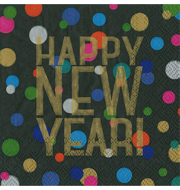 Caspari New Years Party Paper Cocktail Napkins 20pk Happy New Year