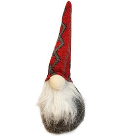 Darice Christmas Gnomes Ornament 7.87H Red Hat On Gray Body