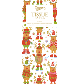 Caspari Christmas Gift Tissue Paper 4 Sheets Sweater Party