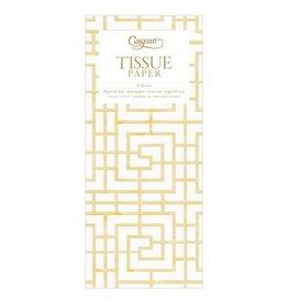 Caspari Gift Tissue Paper 4 Sheets Coromandel White Gold
