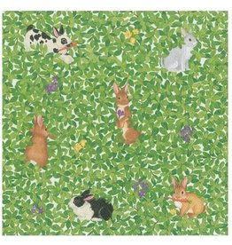 Caspari Easter Paper Luncheon Napkins 20ct Bunnies And Boxwood