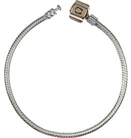 Chamilia Snap Bracelet Sterling Silver With Gold Snap