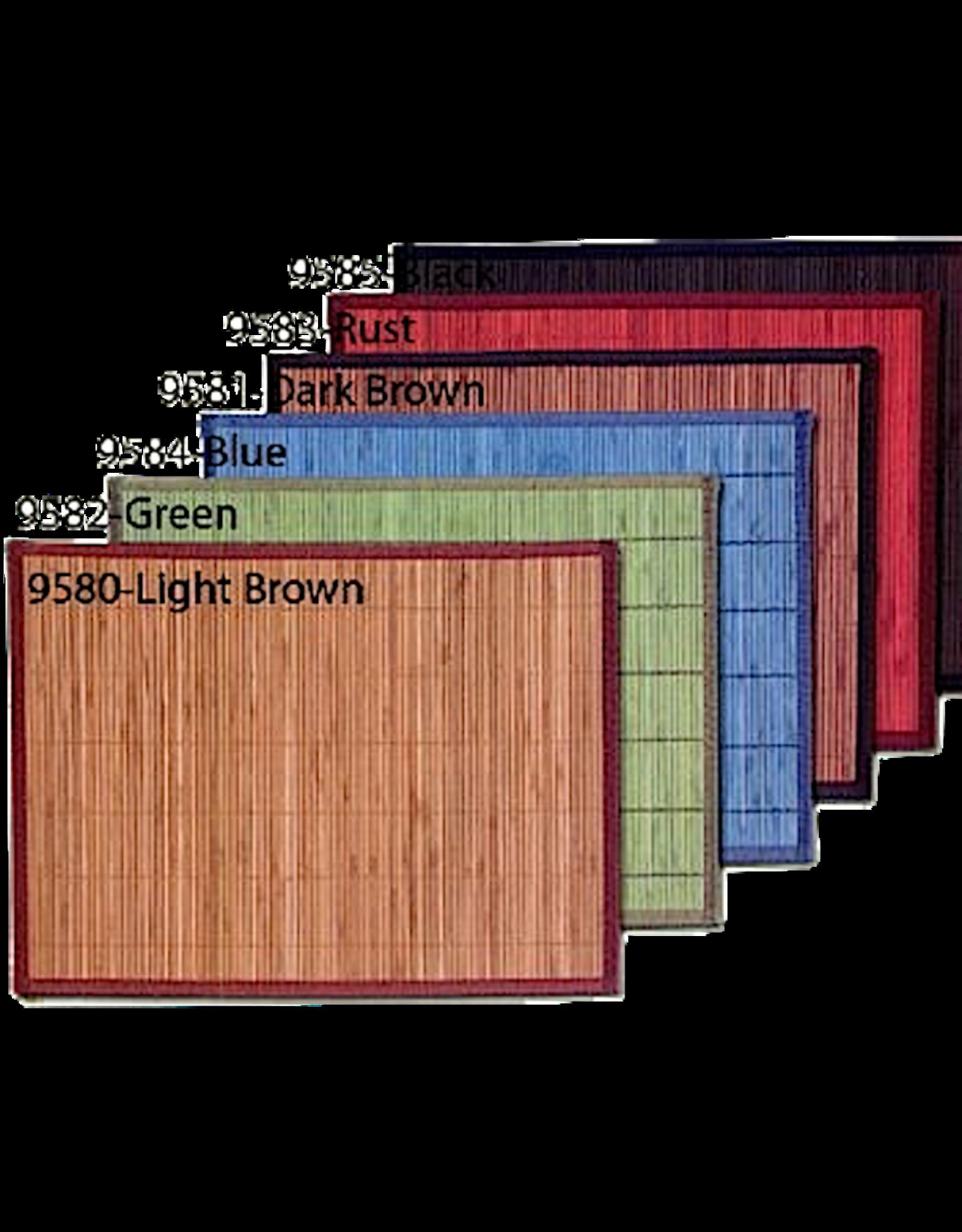 Bamboo Rectangular Placemat Dk Brown