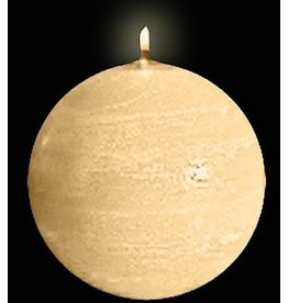 Park Avenue Candles Textured Ball Sphere Candle Champagne 5Dia