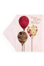 PAPYRUS® Birthday Card 70th Birthday Sparkle Balloons