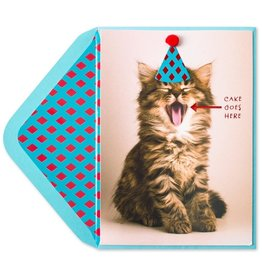 PAPYRUS® Birthday Cards Cat Waiting For Cake