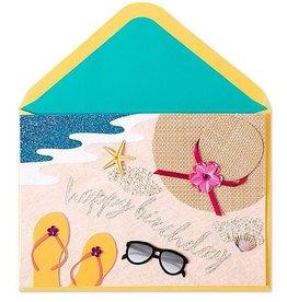 Papyrus Birthday Card Beach Scene
