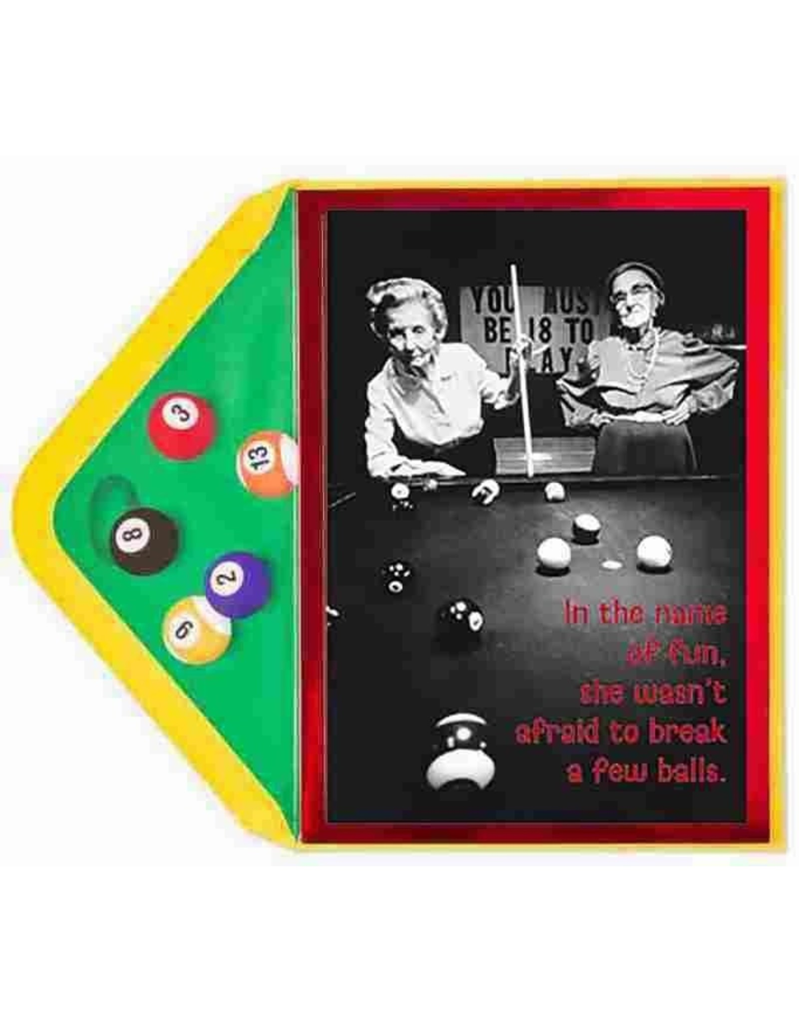 PAPYRUS® Birthday Cards Rack It Up Shes Not Afraid To Break A Few Balls