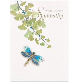 PAPYRUS® Sympathy Card Floral Dragonfly