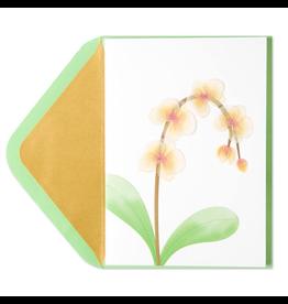 PAPYRUS® Sympathy Cards Orchids Vellum Sculpture
