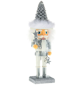 Kurt Adler Hollywood Christmas Tree Hat Nutcracker Silver 10H