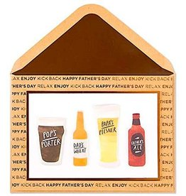 PAPYRUS® Fathers Day Card Beer Types