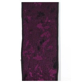 Kurt Adler Purple Woven Double Wire Ribbon 10 Yards