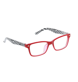 Reading Glasses Zuma Blue Light Red Stripe +2.50