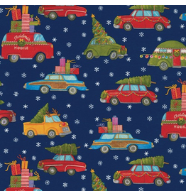 Caspari Christmas Gift Wrapping Paper 8ft Roll Christmas Rush