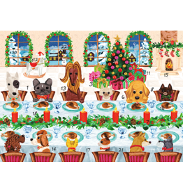 Caspari Christmas Advent Calendar Card The Pet Table