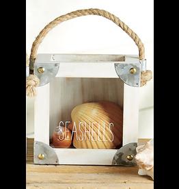 Mud Pie Sea Shells Collection Display Box W Tin Accents Seashells