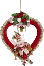 Mark Roberts Fairies Valentines Day Heart With Fairy And Flowers 27 Inch