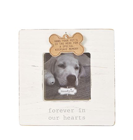 Mud Pie Deceased Pet Frame With ID Tag Hook Forever In Our Hearts