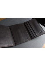 Trifold Leather Wallet In Brown