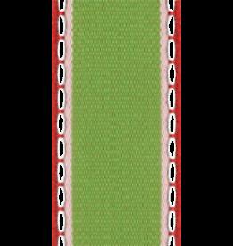 Caspari Ribbon 7 yrds 1.5W Inch Multi Colored Red White Green