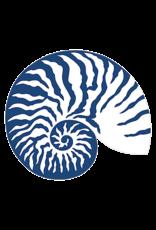 Caspari Blue White Shell Placemats Hard Die Cut Laminated Table Mat 1 Each