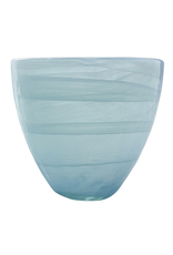 Mariposa Aqua Alabaster Glass Votive 3.5DIAx4H
